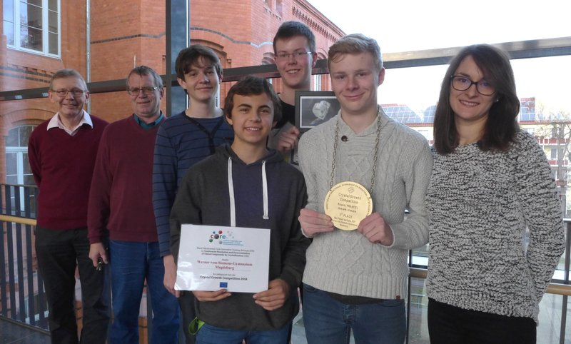 Third-place Winning Students from Werner-von-Siemens-Gymnasium Magdeburg